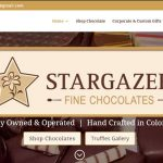 Web Design - Stargazer Fine Chocolates