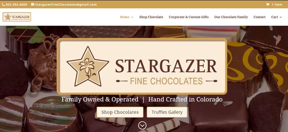 Web Design - Stargazer Fine Chocolates